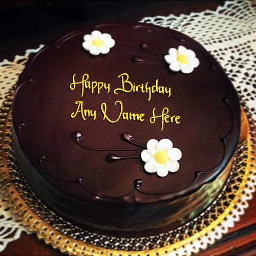 Amazing Chocolate Birthday Cake With Name C157