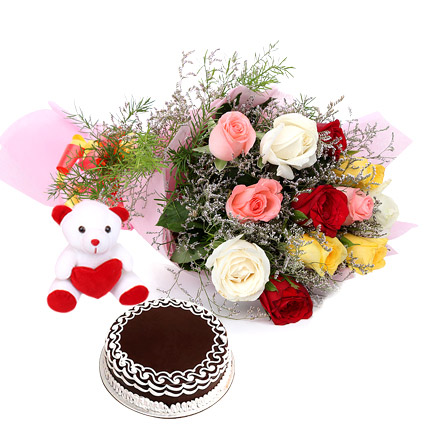 Prime Buy Online Birthday Cakes Flowerz N Cakez Funny Birthday Cards Online Kookostrdamsfinfo